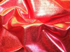 Red Lycra  metalic 150cm wide
